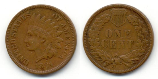 1881 Indian Head Cent EF-40
