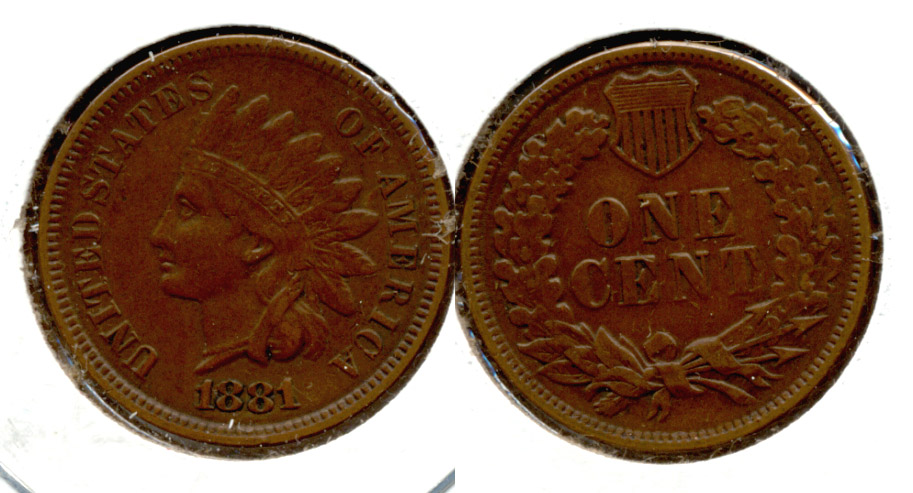 1881 Indian Head Cent EF-40 c
