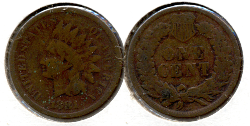 1881 Indian Head Cent Good-4 ad