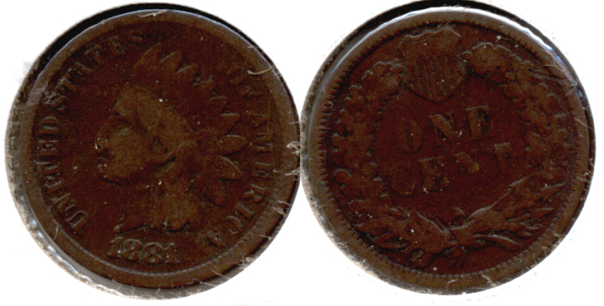 1881 Indian Head Cent Good-4 af