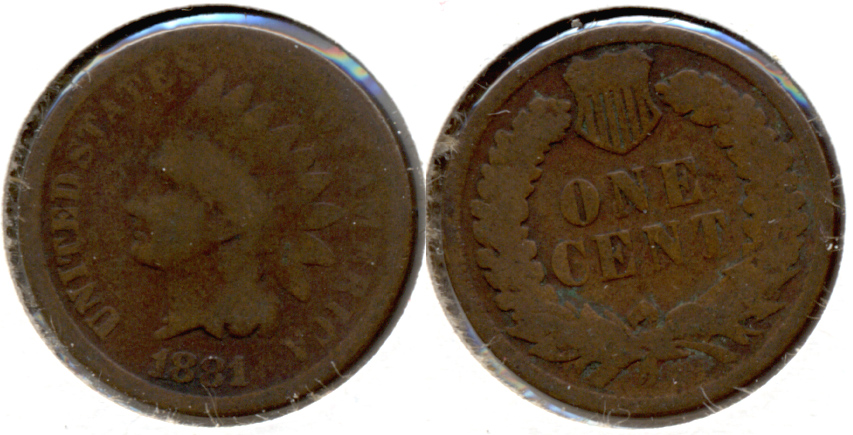 1881 Indian Head Cent Good-4 i