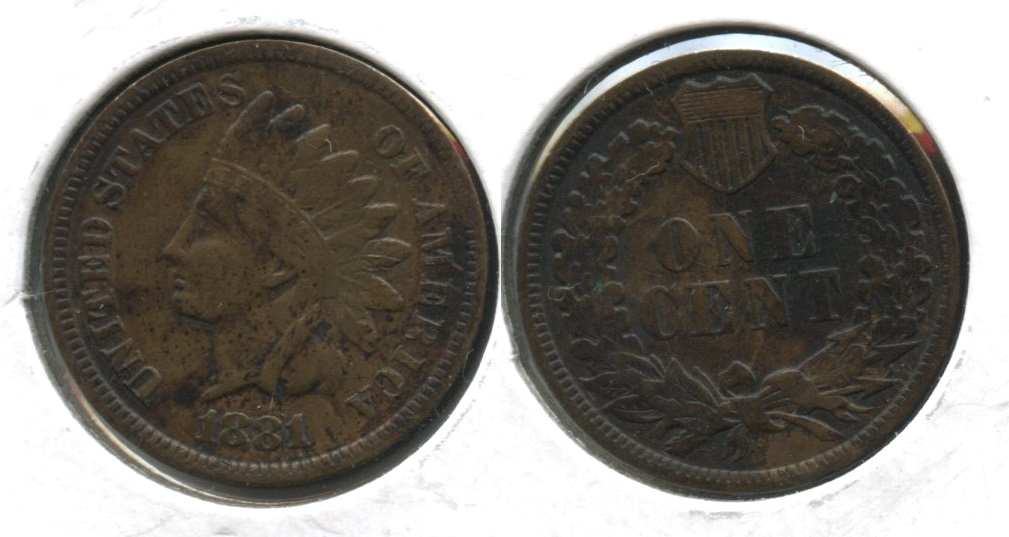 1881 Indian Head Cent VF-20 #b