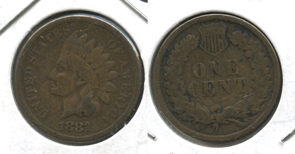 1881 Indian Head Cent VG-8 #b