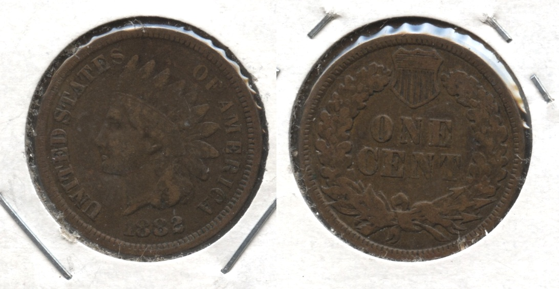 1882 Indian Head Cent Fine-12 #a