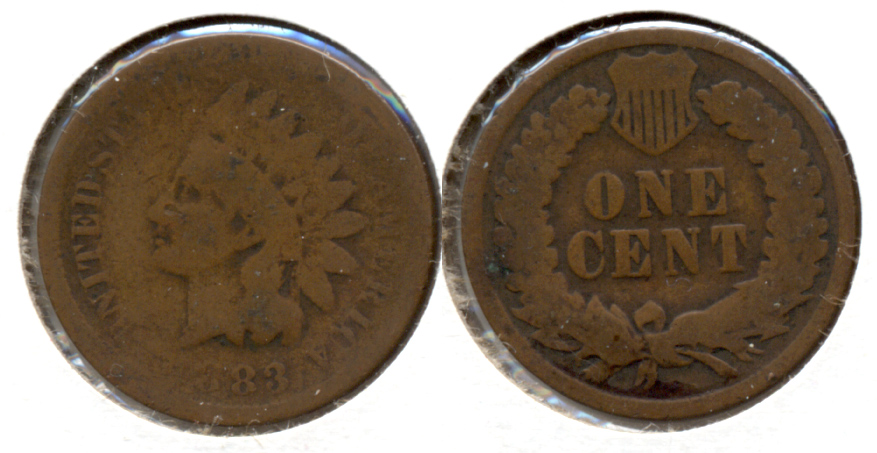 1883 Indian Head Cent AG-3 b