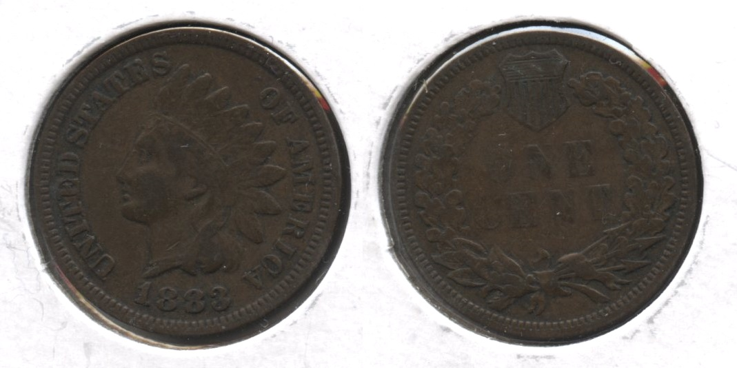1883 Indian Head Cent Fine-12