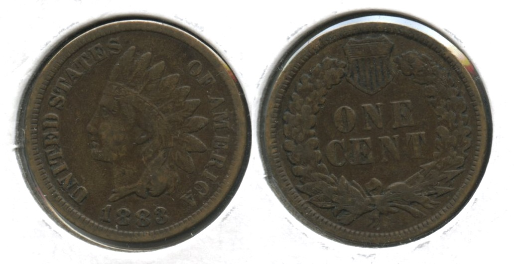 1883 Indian Head Cent Fine-12 #d