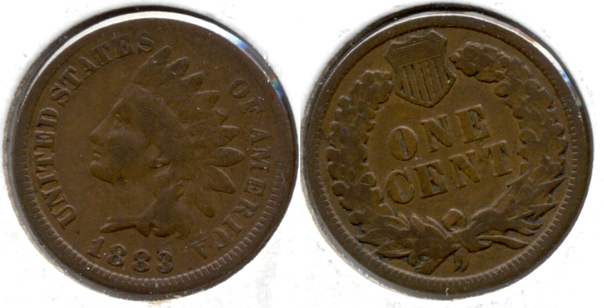 1883 Indian Head Cent Good-4 aj