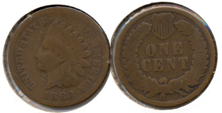 1883 Indian Head Cent Good-4 f