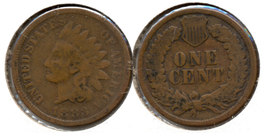 1883 Indian Head Cent Good-4 i