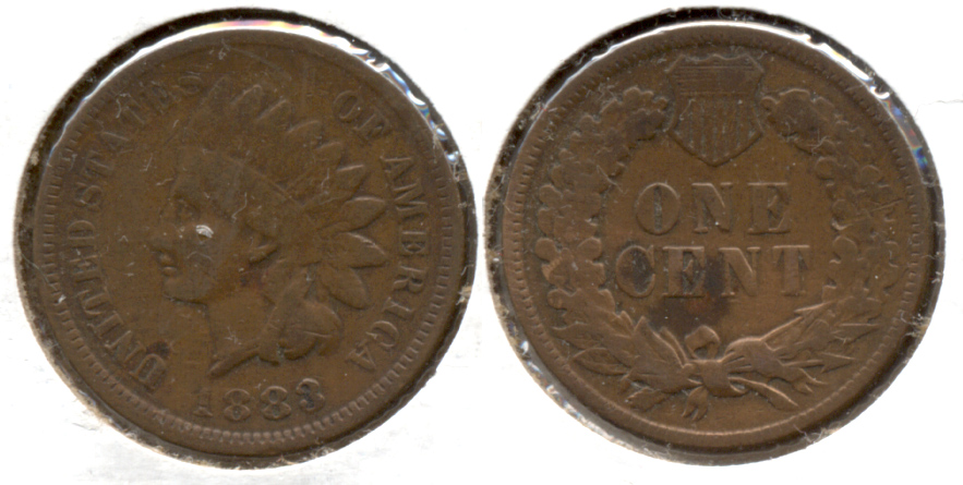 1883 Indian Head Cent VG-10 Reverse Cleaned Retoned