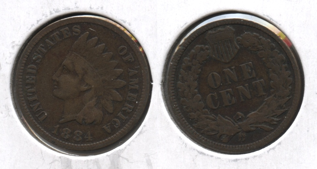 1884 Indian Head Cent Fine-12 #c