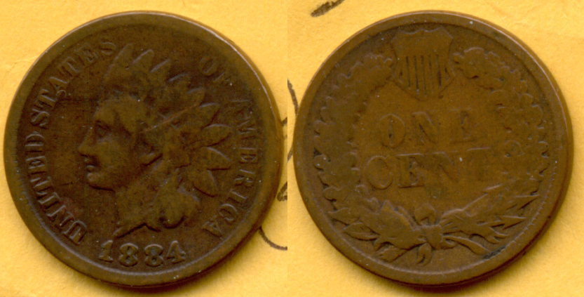 1884 Indian Head Cent Good-4