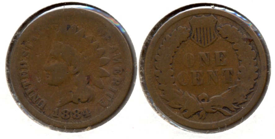 1884 Indian Head Cent Good-4 b