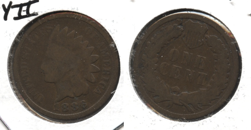 1886 Type 2 Indian Head Cent G-4 #i