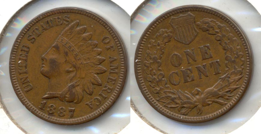 1887 Indian Head Cent EF-45
