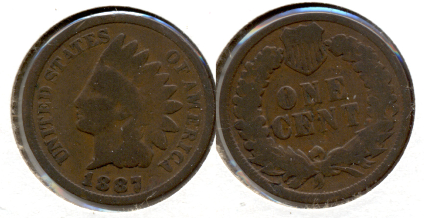 1887 Indian Head Cent Good-4
