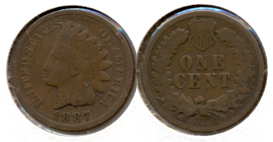 1887 Indian Head Cent Good-4 c