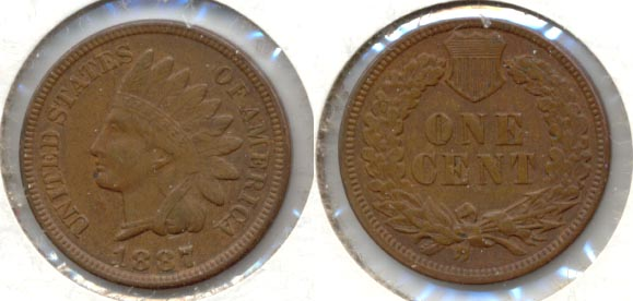 1887 Indian Head Cent VF-20
