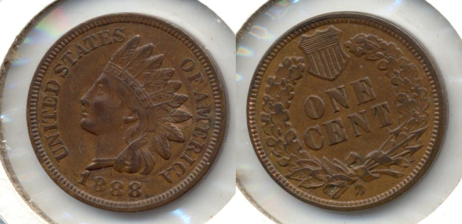 1888 Indian Head Cent AU-50