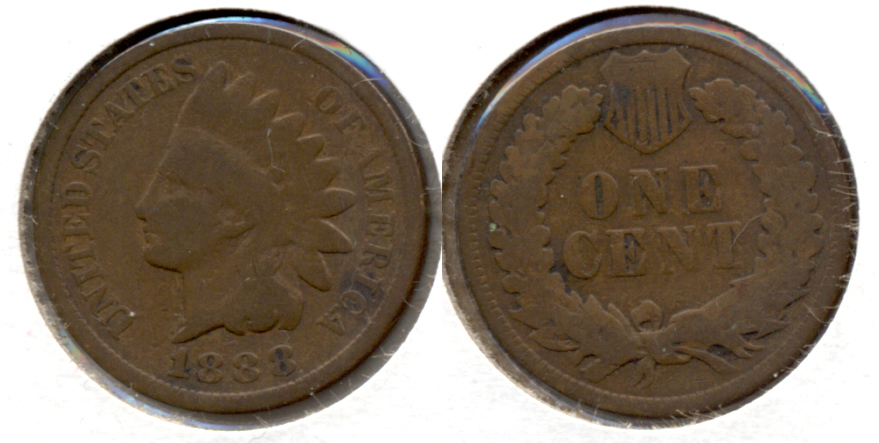 1888 Indian Head Cent Good-4
