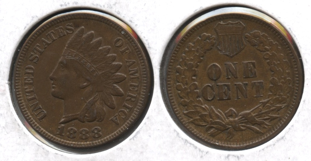 1888 Indian Head Cent MS-63 Brown #a