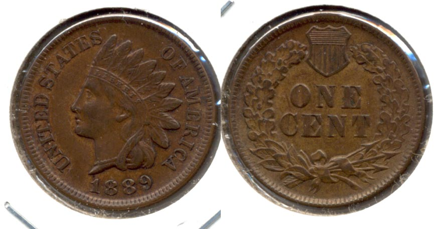 1889 Indian Head Cent AU-55