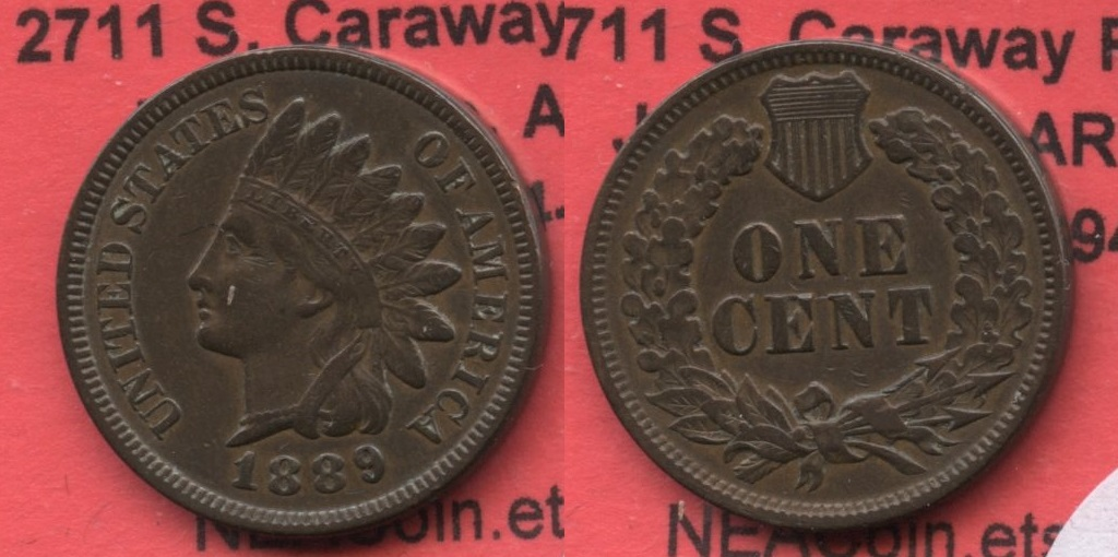 1889 Indian Head Cent EF-40 #a