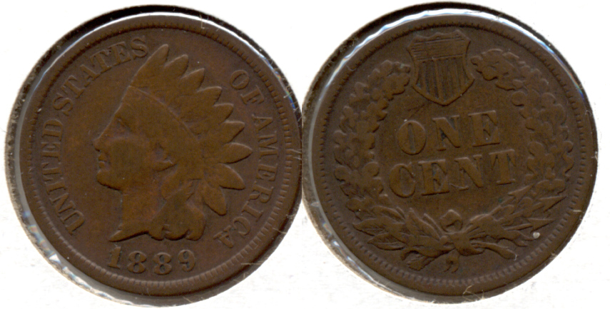 1889 Indian Head Cent Good-4 f