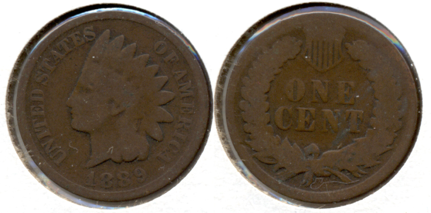 1889 Indian Head Cent Good-4 k