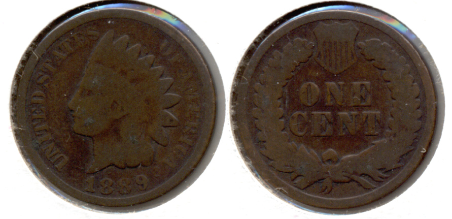 1889 Indian Head Cent Good-4 m