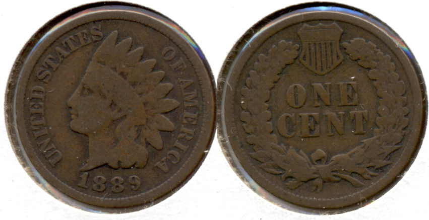 1889 Indian Head Cent Good-4 p