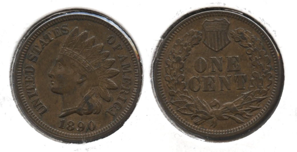 1890 Indian Head Cent EF-40
