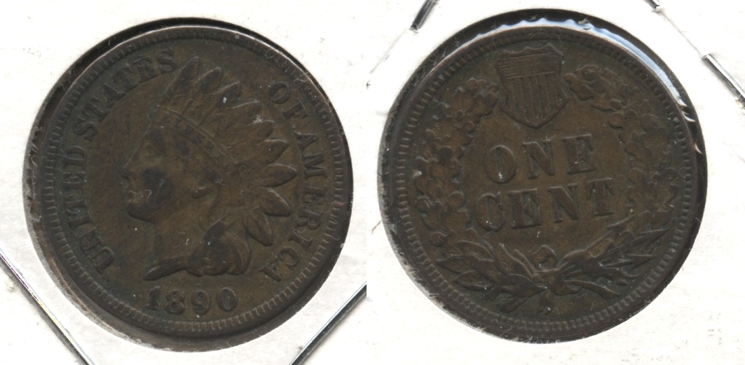 1890 Indian Head Cent Fine-12