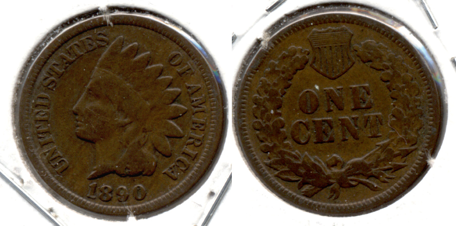 1890 Indian Head Cent Good-4