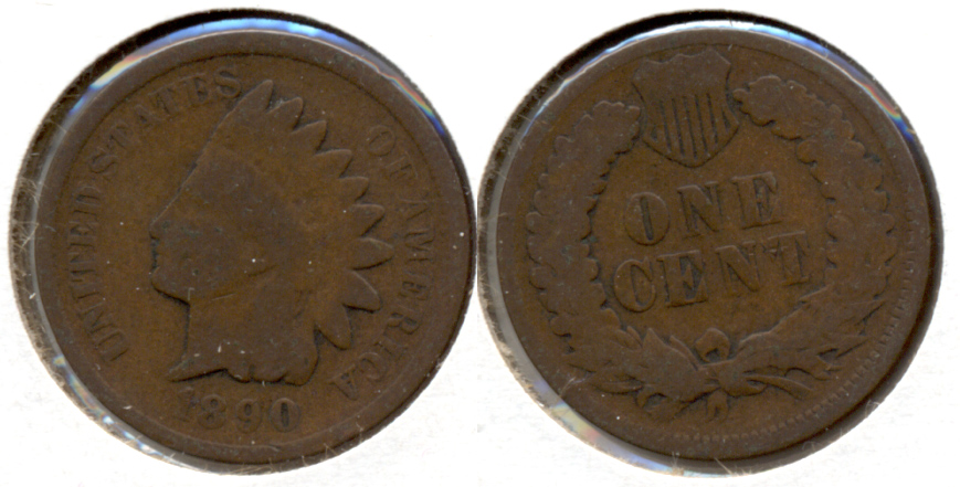 1890 Indian Head Cent Good-4 i
