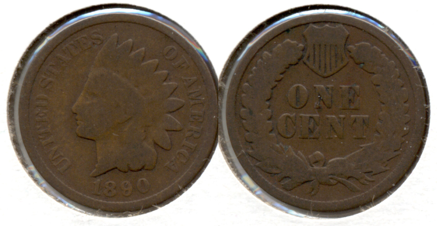 1890 Indian Head Cent Good-4 o