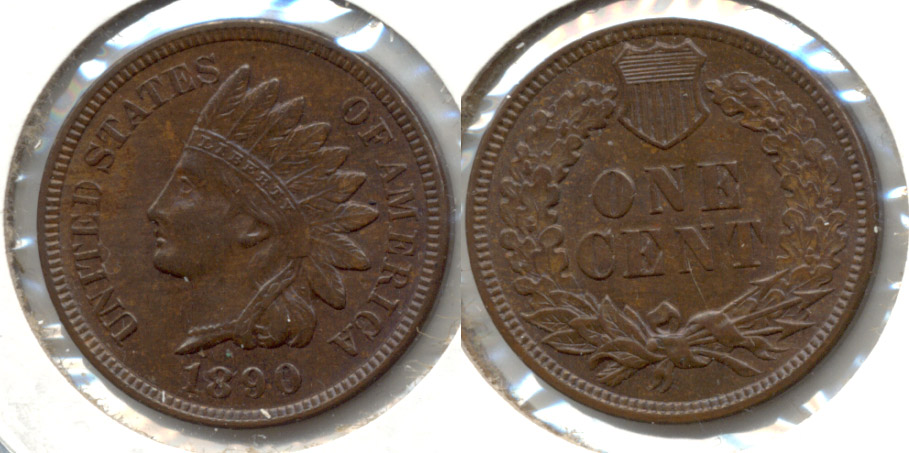 1890 Indian Head Cent MS-63 Brown a