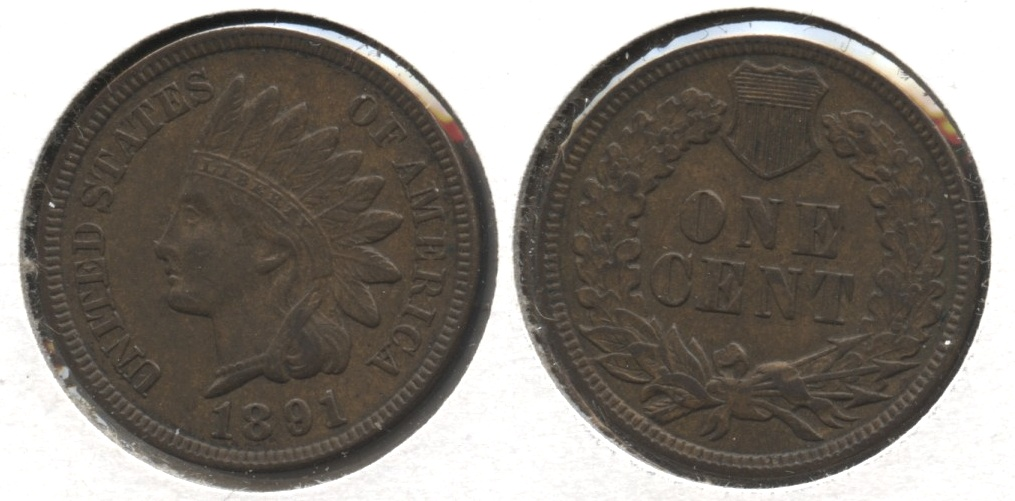1891 Indian Head Cent EF-40 #b