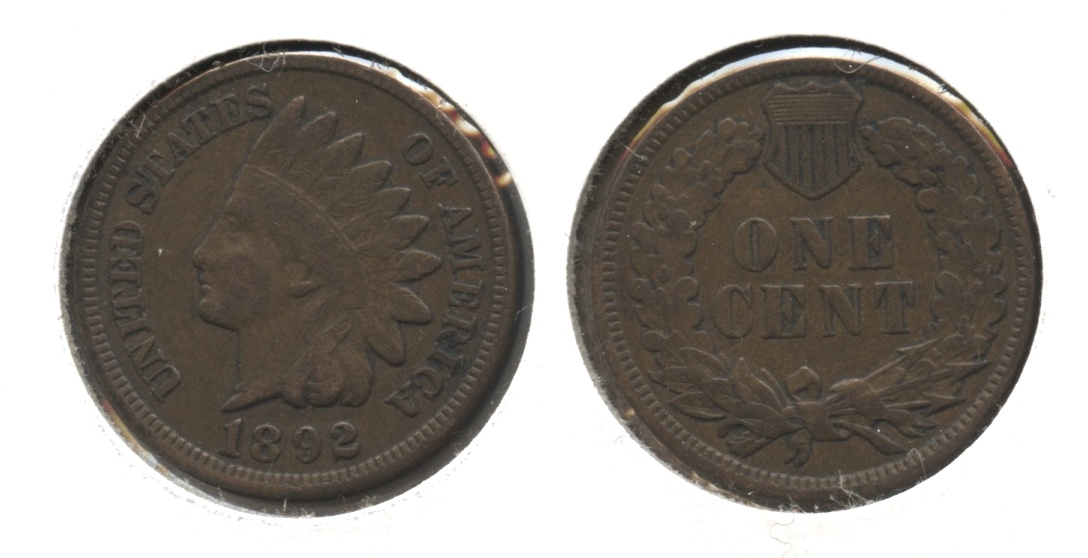 1892 Indian Head Cent Fine-12