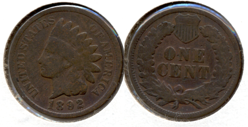 1892 Indian Head Cent Good-4 q