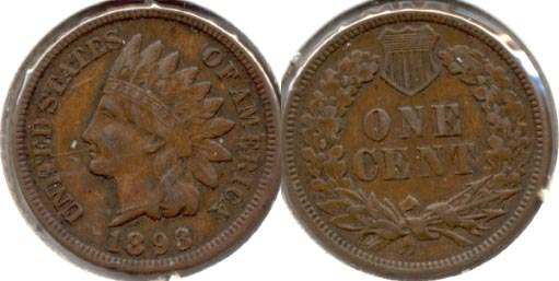 1893 Indian Head Cent EF-40