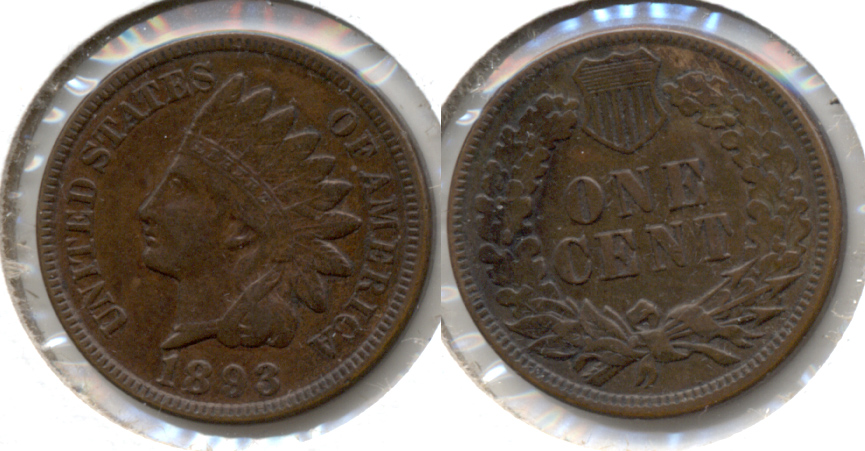 1893 Indian Head Cent EF-40 a