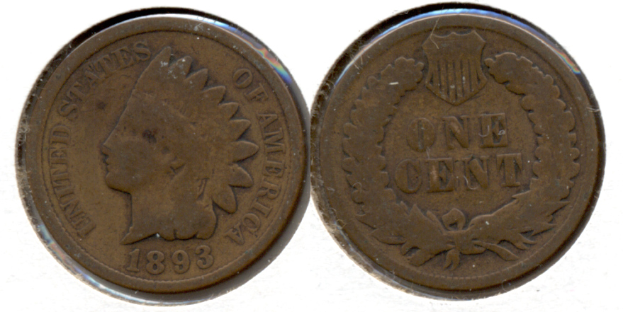 1893 Indian Head Cent Good-4 h