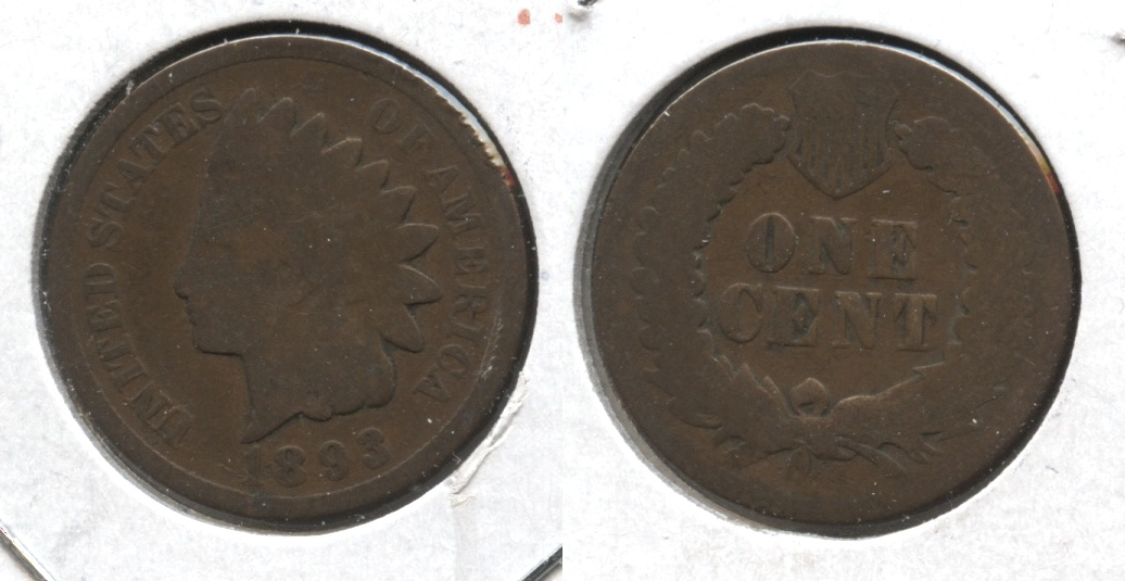 1893 Indian Head Cent Good-4 #s