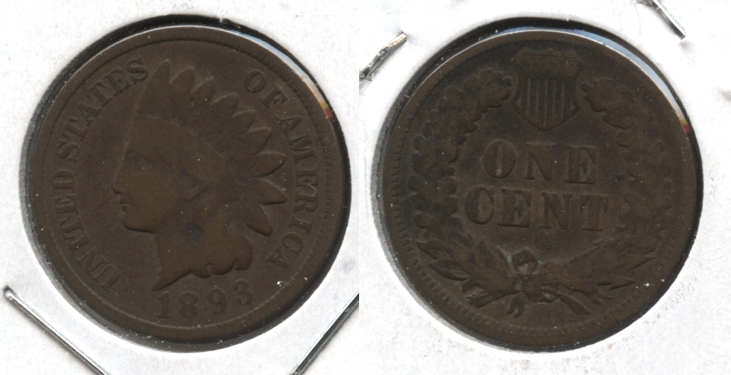 1893 Indian Head Cent Good-4 #u