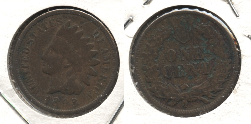1893 Indian Head Cent VG-8 Reverse Pitting