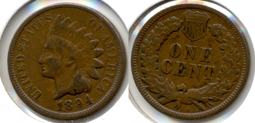 1894 Indian Head Cent Fine-12