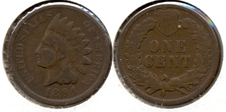 1894 Indian Head Cent Good-4 ah