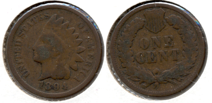 1894 Indian Head Cent Good-4 ak